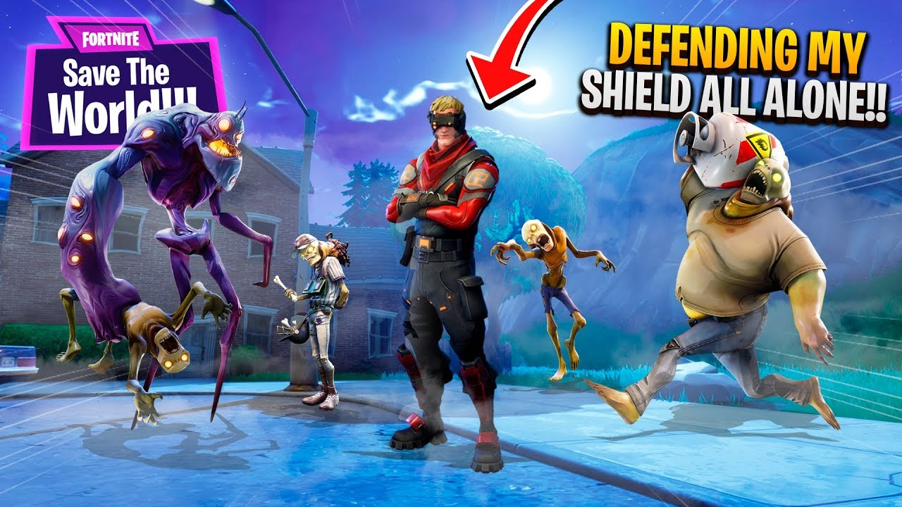 Defending The Shield All Alone Fortnite Save The World Pve