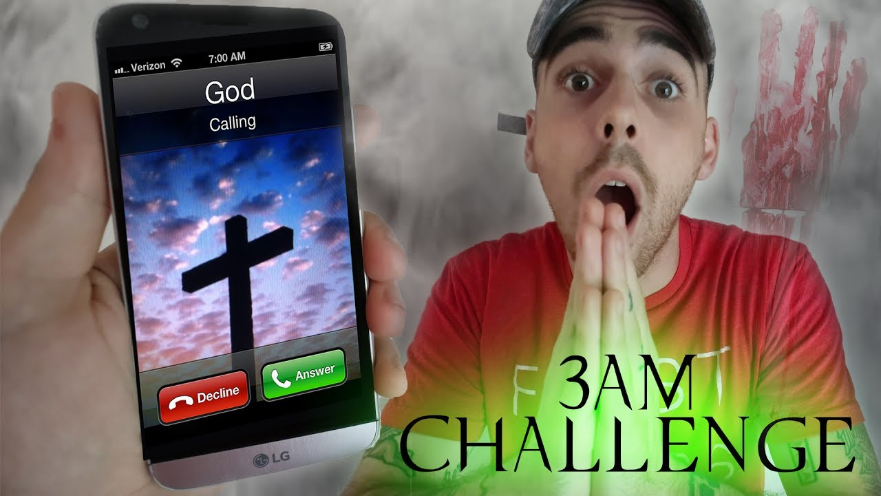 ACTUALLY WORKED) CALLING GOD AT 3AM CHALLENGE GONE WRONG! DO NOT CALL GOD AT  3 AM *THIS IS WHY* | 3AM Challenges with ImJayStation | Halloween Flix